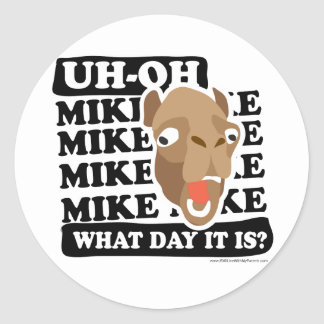 Camel Hump Day, Guess What Day It Is?!? Classic Round Sticker