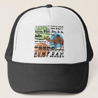 camel hump day trucker hat