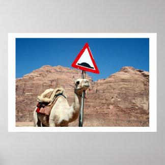 camel hump wadi rum poster