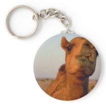 Camel in desert 2 keychain