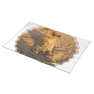 Camel in Desert Placemat Cloth Place Mat