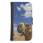 Camel in front of the pyramids of Giza, Egypt, Galaxy S4 Wallet Case