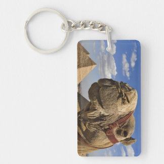 Camel in front of the pyramids of Giza, Egypt, Keychain