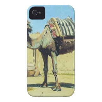 Camel in the courtyard of caravanserai by Vasily iPhone 4 Covers