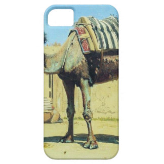 Camel in the courtyard of caravanserai by Vasily iPhone SE/5/5s Case