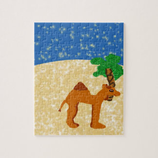 Camel In The Desert Jigsaw Puzzle