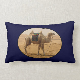 Camel in the desert throw pillow