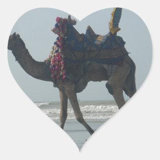 Camel.JPG tribal costero Pegatina En Forma De Corazón