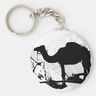 Camel Basic Round Button Keychain