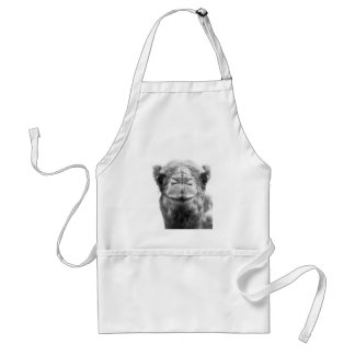 Camel Kisses Fun Closeup Photo Adult Apron