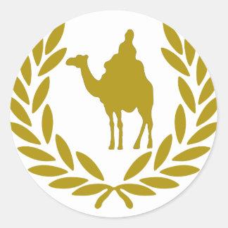 camel-laurel-crown.png round stickers