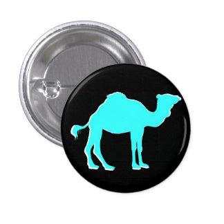 Camel Love: Hump Day Celebration Black & Teal Button