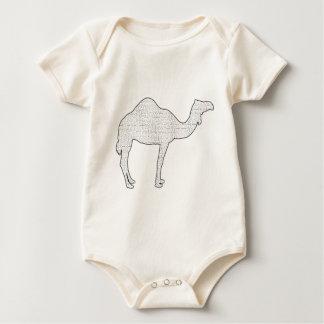 Camel Maze Baby Bodysuit