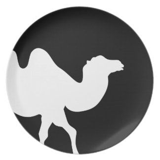 Camel moon dinner plate