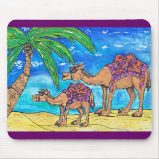 Camel Mum and Bub Mousepad
