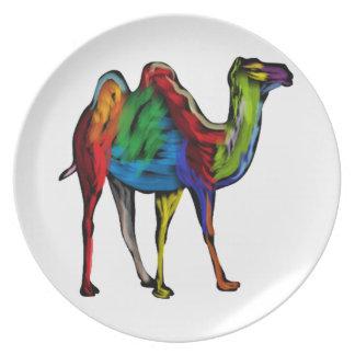 CAMEL OF COLORS MELAMINE PLATE