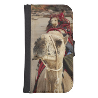 Camel on Cable Beach, Broome Wallet Phone Case For Samsung Galaxy S4