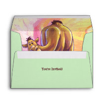 Camel Party Center Envelope