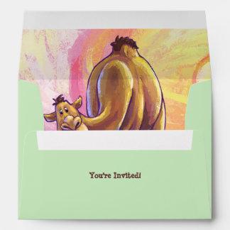 Camel Party Center Envelope