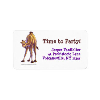 Camel Party Center Personalized Address Label