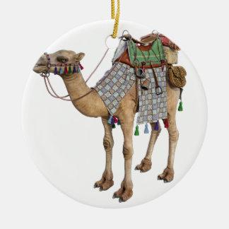 Camel prepared for Ancient Rider Ceramic Ornament