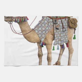 Camel prepared for Ancient Rider Hand Towels