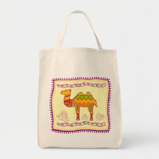 Camel Quilt Tote Bag