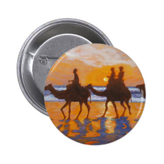 Camel Ride Broome Australia Buttons