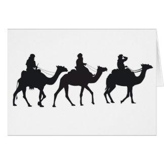 Camel rider (Caspar, Melchior, Balthasar) Card