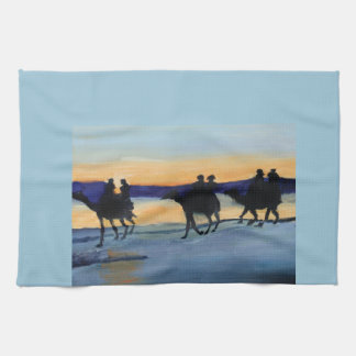 CAMEL RIDING HAND TOWELS