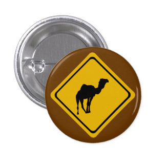 camel road sign button