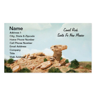 Camel Rock - Santa Fe, New Mexico Oil Painting Business Card