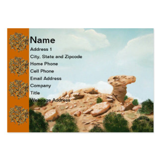 Camel Rock - Santa Fe, New Mexico Oil Painting Large Business Card