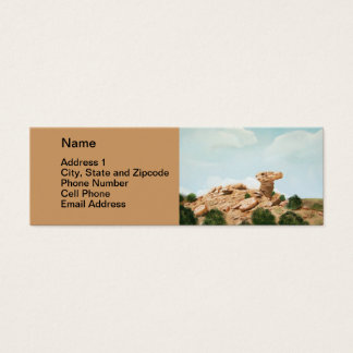 Camel Rock - Santa Fe, New Mexico Oil Painting Mini Business Card