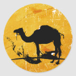 Camel Round Stickers