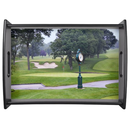 Camel Sand Trap, Medinah, Illinois, Golf Course Serving Tray