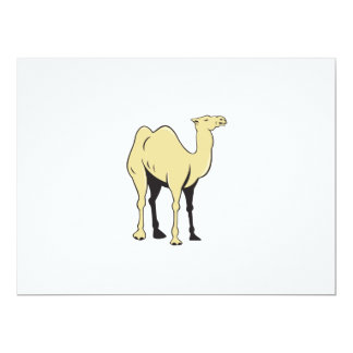 Camel Side View Cartoon Card