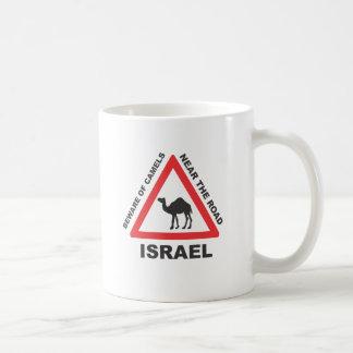 Camel Sign in Israel Coffee Mugs