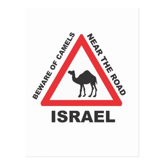 Camel Sign in Israel Postcard