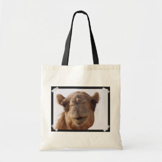 Camel Small Canvas Tote Bag