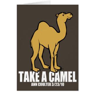 Camel Stationery Note Card