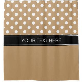 black and tan shower curtain. Camel Tan White LG Dot Black CB Name Monogram Shower Curtain Curtains  Zazzle