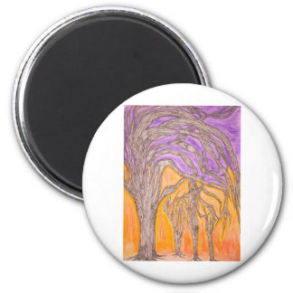 Camel Thorn Trees 2 Inch Round Magnet