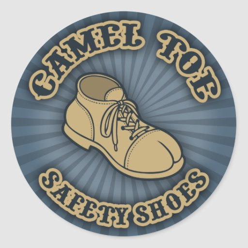 Camel Toe Safety Shoes Round Sticker