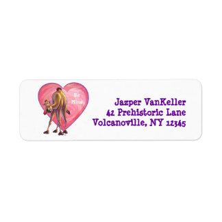 Camel Valentine's Day Label