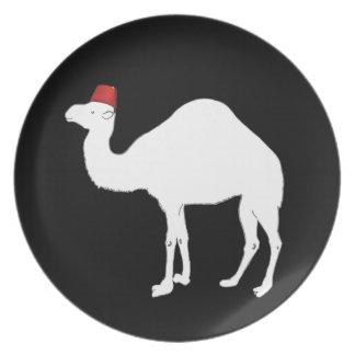 Camel Wearing A Fez Dinner Plates