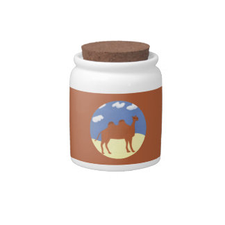 Camel Whimsical on Desert Dunes Candy Jars