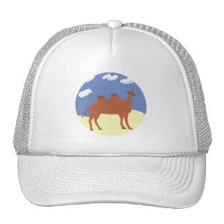 Camel Whimsical on Desert Dunes Trucker Hat