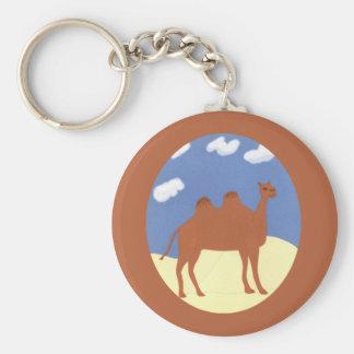 Camel Whimsical on Desert Dunes Keychain
