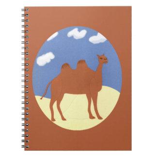Camel Whimsical on Desert Dunes Note Book